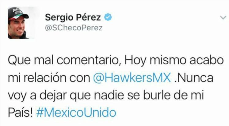 Checo Pérez Tweet