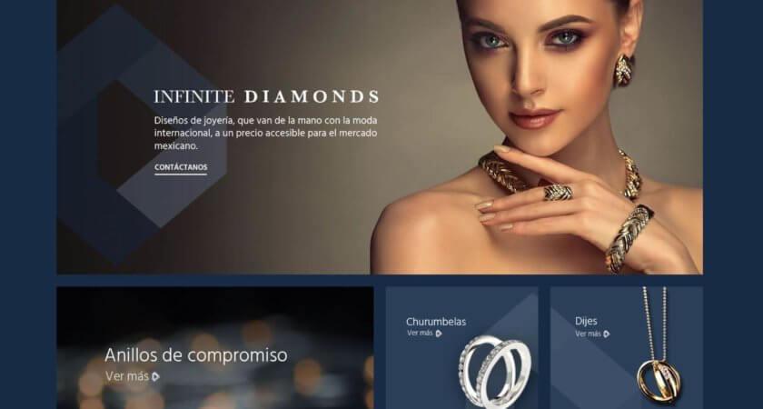Diseñamos la tienda en línea de Infinite Diamonds