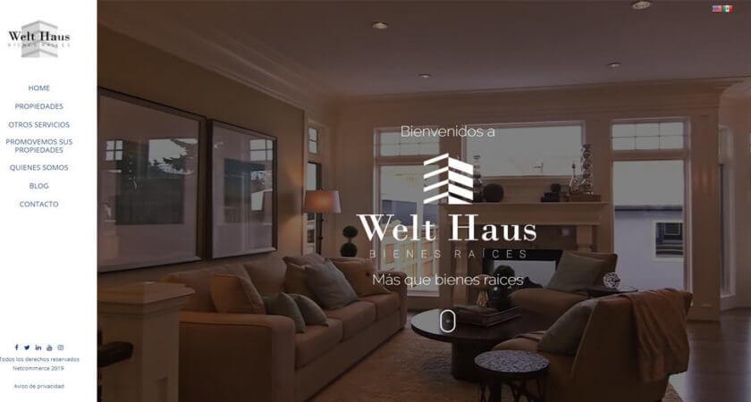 Diseñamos el sitio Web de Welt Haus Bienes Raíces