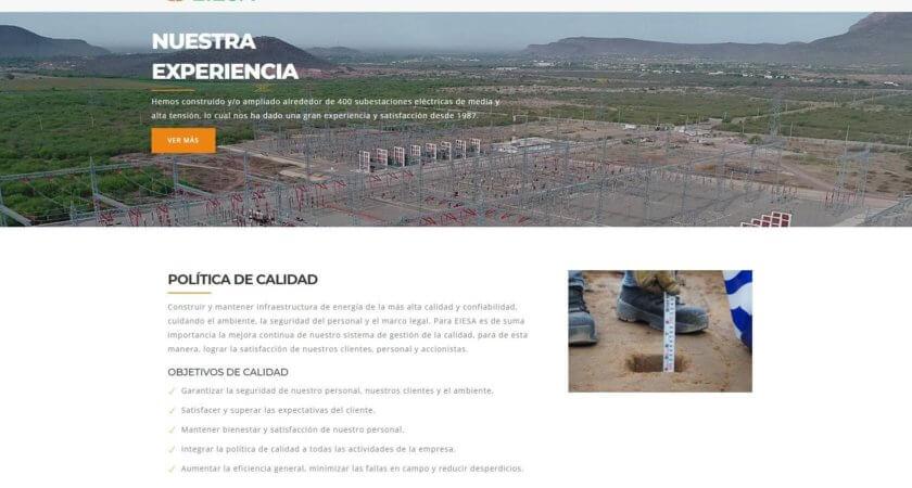 Energizamos la imagen de EIESA remodelando su sitio Web