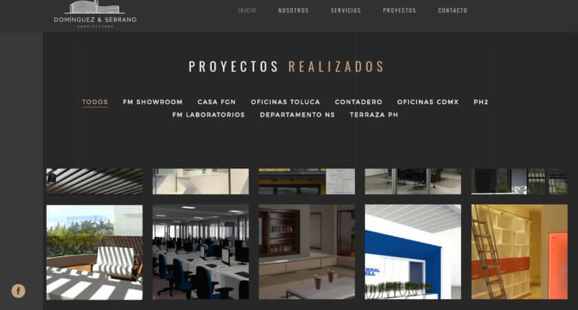 Creamos el sitio de la firma de arquitectos Domínguez & Serrano