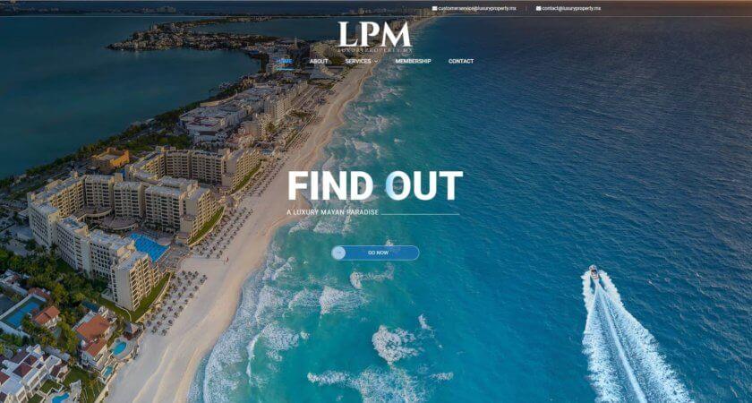Diseñamos un sitio One Page para Luxury Property