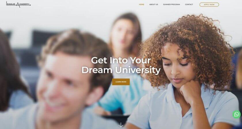 League Academy tiene un nuevo sitio Web