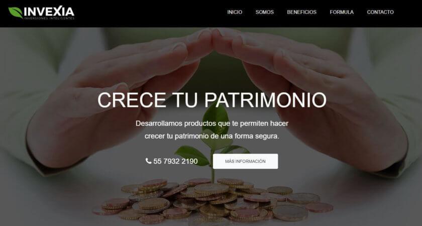Diseñamos un sitio Web para Invexia