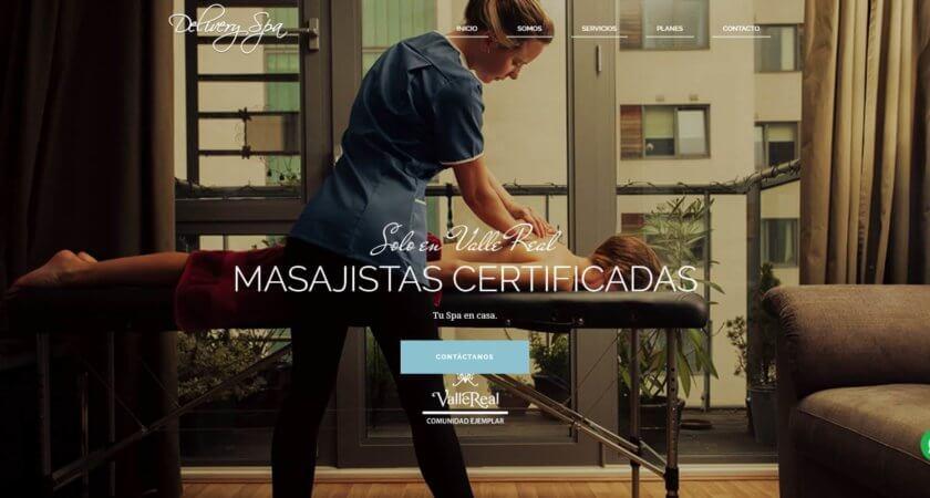 Diseñamos el sitio Web de Delivery Spa