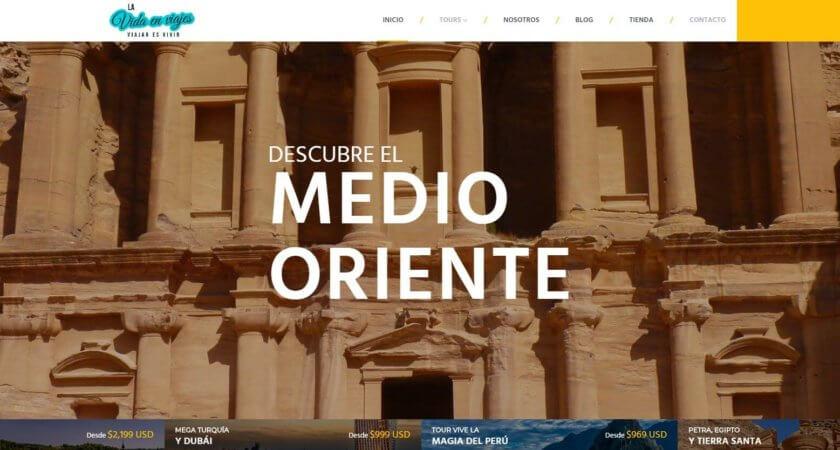 Rediseñamos el sitio Web La vida en viajes