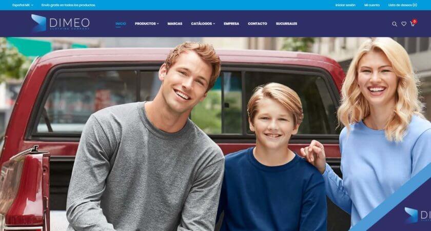 Creamos la tienda en línea de DIMEO