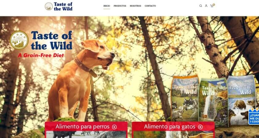 Creamos el e-commerce de la marca Taste of the Wild