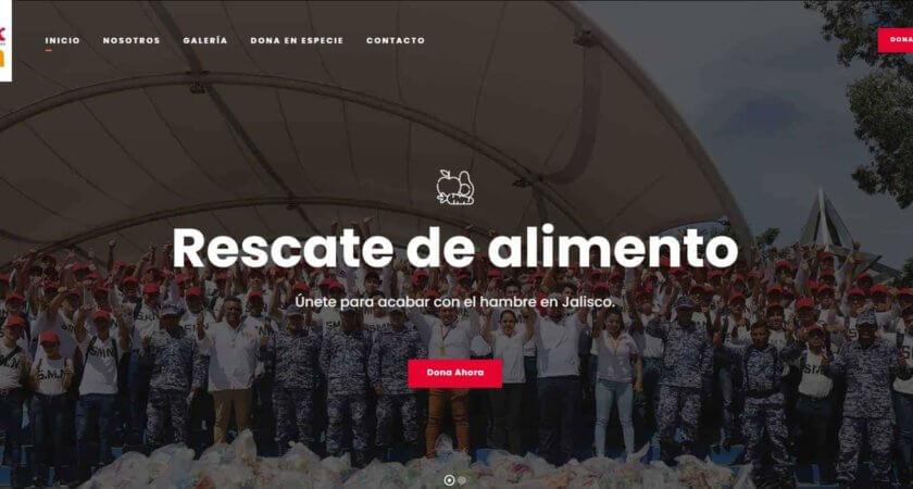 Creamos un Sitio Web para difundir la labor de BAMX, Banco de Alimentos de México.