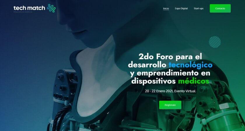 Creamos un sitio Web para la segunda edición de Tech Match en Guadalajara.