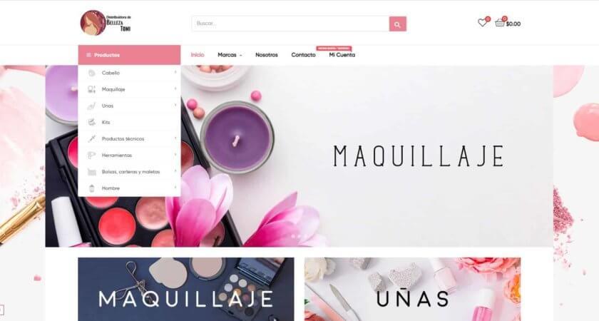 Creamos una tienda en línea para Belleza Tomi