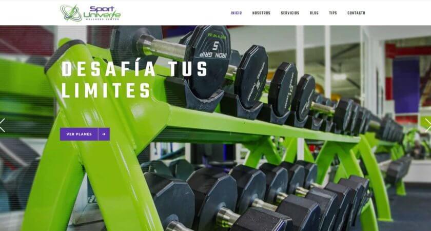 Creamos un sitio para Sport Universe en la plataforma de WordPress.