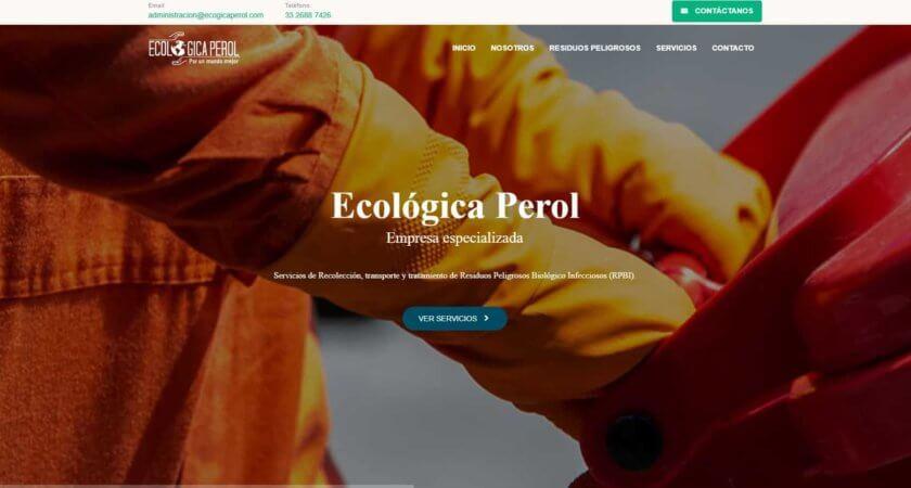 Creamos un sitio en HTML para Ecológica Perol